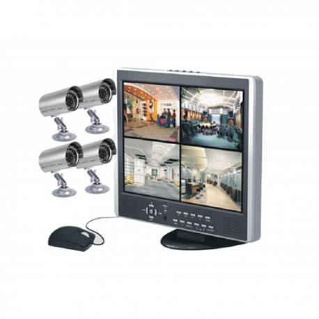 "Kit de surveillance DVR 15"" LCD - SecuMax DVR4LCD+4C"