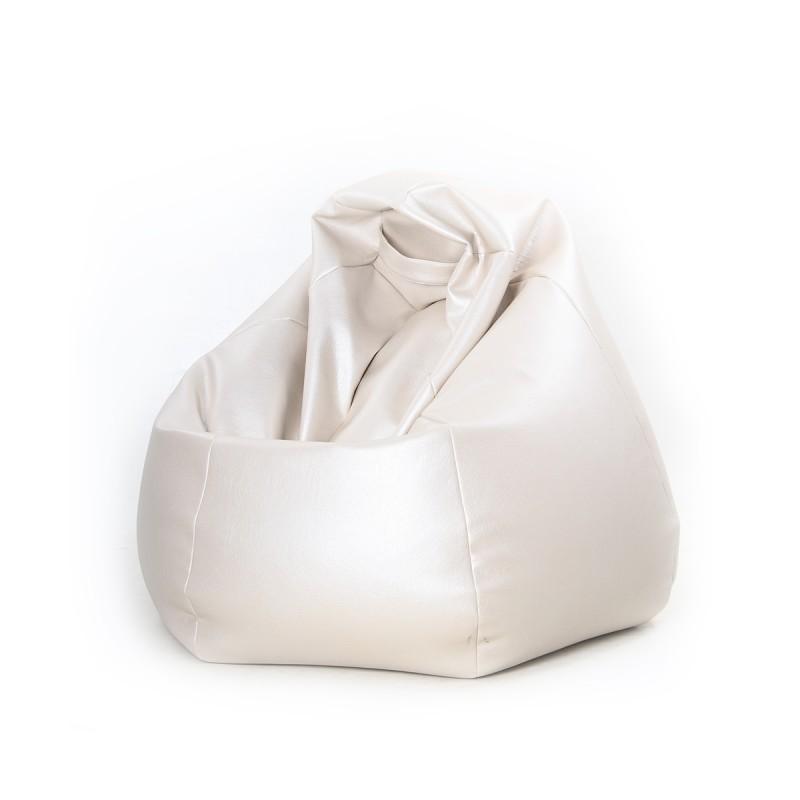 Achat vente pouf poire en simili cuir petit mod le - Pouf simili cuir blanc ...
