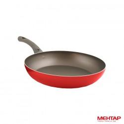 Poêle téflon rouge de diamètre 24 cm - Mehtap MT24