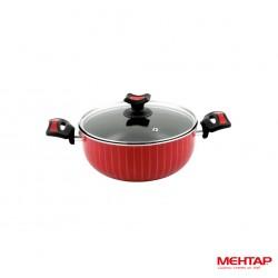 Faitout téflon rouge de diamètre 20 cm - Mehtap NDT20