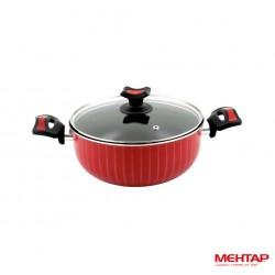 Faitout téflon rouge de diamètre 24 cm - Mehtap NDT24