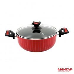Faitout téflon rouge de diamètre 28 cm - Mehtap NDT28