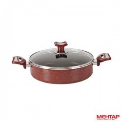 Mijoteuse téflon rouge Hardena diamètre 24 cm - Mehtap HST24