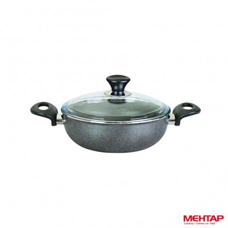 Mijoteuse téflon avec couvercle granite - Mehtap
