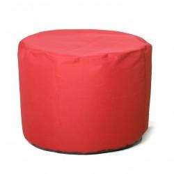 Poufe cylindrique en toile moyen modèle