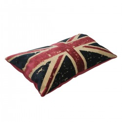 Coussin design UK multi couleur 62 cm * 35 cm