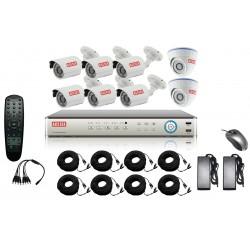 Kit complet de vidéosurveillance 8CH DVR analogique + 8 caméras - ACESEE