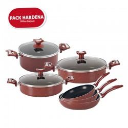 Pack Hardena Series : Batterie de cuisine 9 pièces en Téflon