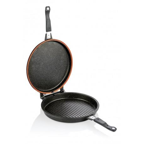 Poêle grill double face Rectangulaire 34*24 cm