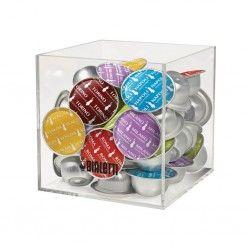 Porte capsules cube en Plexiglass - Bialetti