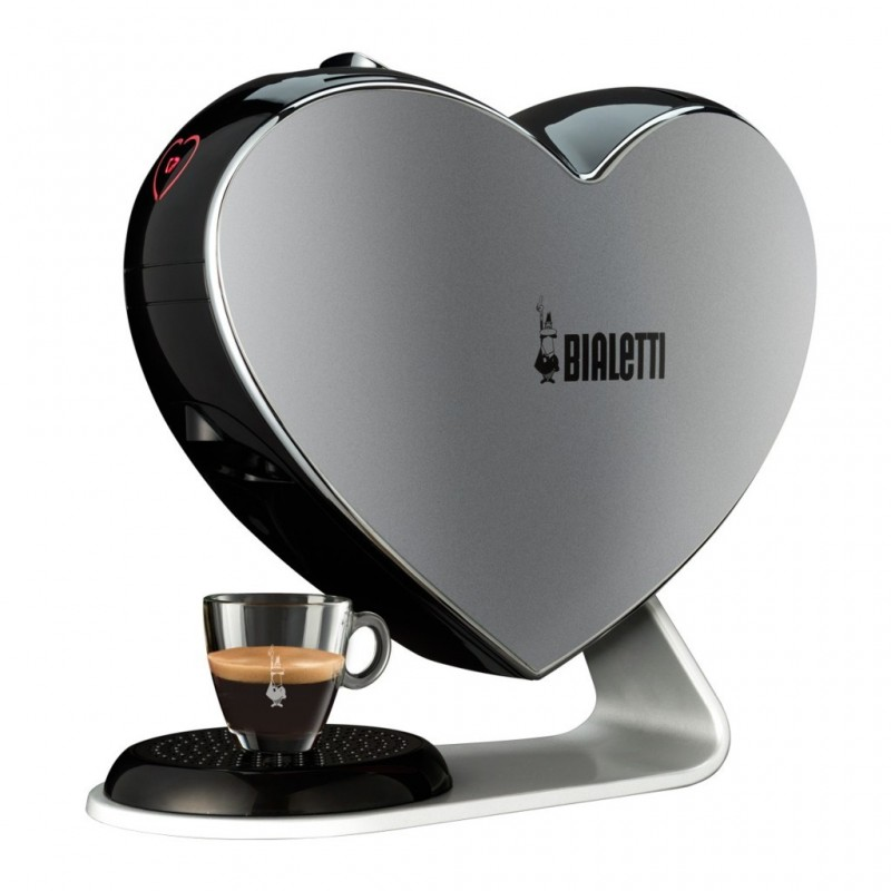 machine caf et th capsules bialetti cuore gris. Black Bedroom Furniture Sets. Home Design Ideas