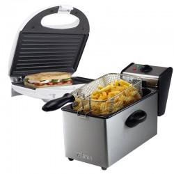 Pack Sandwich 2 en 1 : Friteuse Capacité 4 L + Grille panini