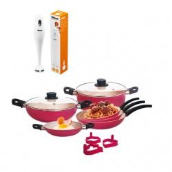 Mixeur Plongeant Tristar + Batterie de cuisine Rosetta