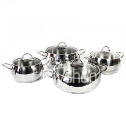 Batterie de cuisine FALEZ Dolunay 8 pièces en inox