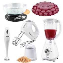 Pack 3ayadi 4 en 1 : Mixeur + Blender avec grinder + Batteur + Balance de cuisine