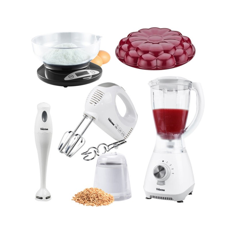 Pack 3ayadi mixeur blender avec grinder batteur for Cuisine avec electromenager offert