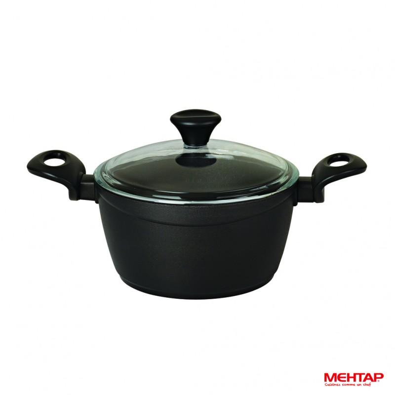 Faitout t flon noir de diam tre 24 cm mehtap bdt24 - Faitout art et cuisine ...