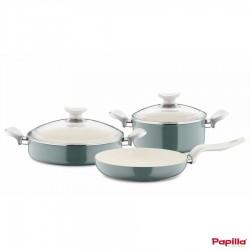 Batterie de cuisine 5 pièces Vert céramique - Papilla TE.SET.5