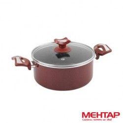 Faitout téflon rouge Hardena de diamètre 24 cm - Mehtap HDT24