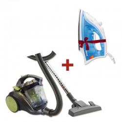 Pack Nettoyage : Aspirateur sans sac multi cyclonique + Fer repasser Gratuit