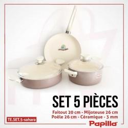 Batterie de cuisine sahara 5 pièces céramique - Papilla