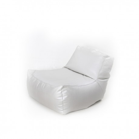 Pouf lazy en simili cuir