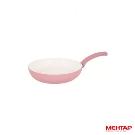 Mehtap SRT24 - Poêle céramique rose Diamètre 24 cm