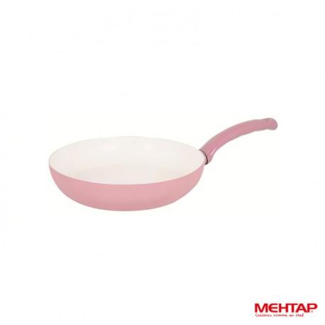 Mehtap SRT28 - Poêle céramique rose Diamètre 28 cm