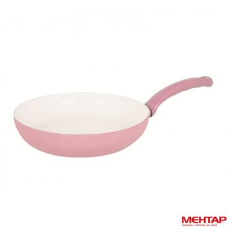 Mehtap SRT30 - Poêle céramique rose diamètre 30 cm
