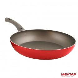 Poêle téflon rouge de diamètre 30 cm - Mehtap-MT30