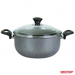 Faitout téflon granite de diamètre 28 cm - Mehtap KGDT28