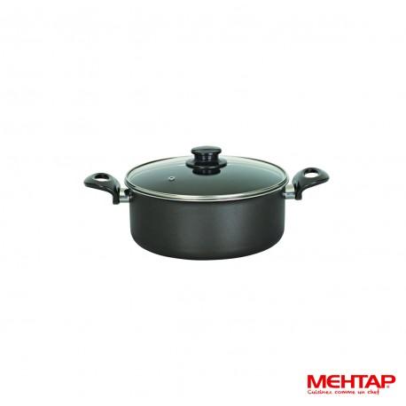 Faitout téflon noir avec couvercle - Mehtap ODT24