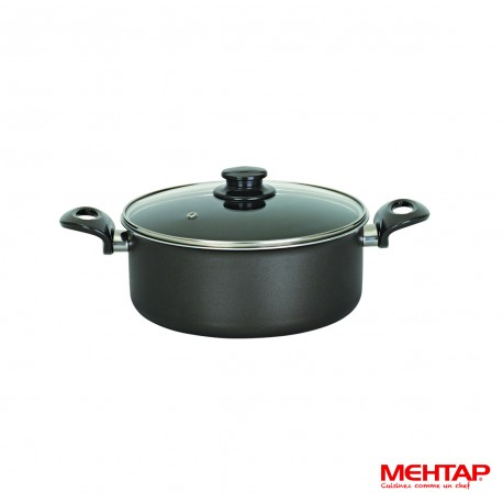 Faitout téflon noir avec couvercle - Mehtap ODT26