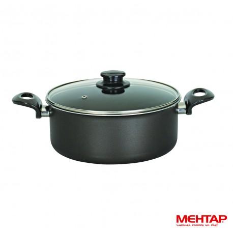 Faitout téflon noir avec couvercle - Mehtap ODT28