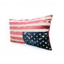 Coussin design USA multi couleur 62 cm * 35 cm
