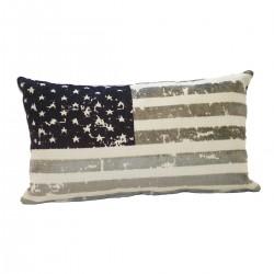 Coussin design USA couleur violet 62 cm * 35 cm