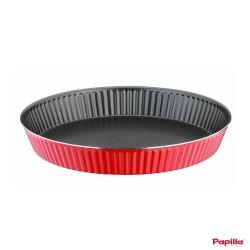Moule à cake Tart en téflon rouge Redio - Papilla RE.CAKE.TA