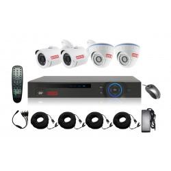 Kit complet de vidéo surveillance DVR HDCVI + 4 caméras - ACESEE