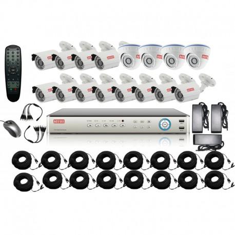 Kit complet de vidéosurveillance 16CH DVR analogique
