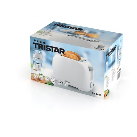 Grille pain 800 Watts blanc - Tristar BR-1013