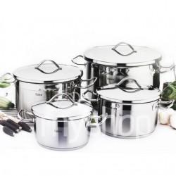 Batterie de cuisine FALEZ PROFI 8 pièces en inox