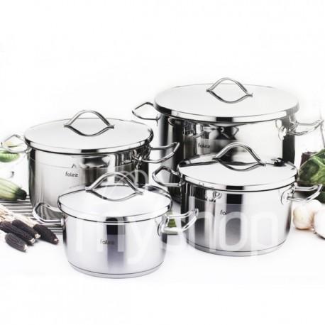 Batterie de cuisine 8 pièces en inox - FALEZ PROFI
