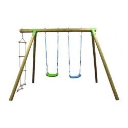 Balançoire en bois pour enfants - Greenset