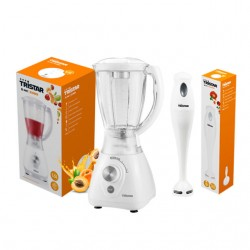 Vente Flash : Blender bol plastique 1,5L + Mixeur plongeant à main