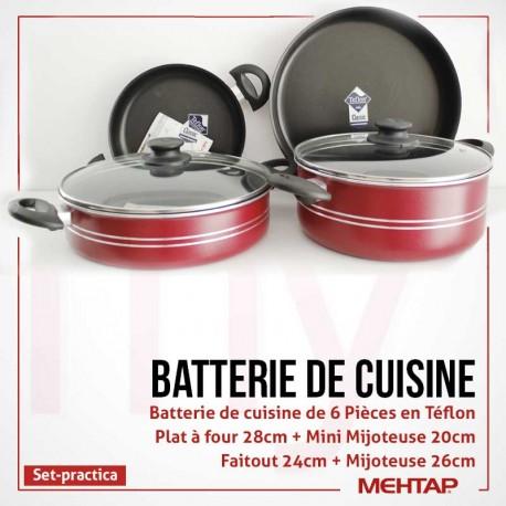 Batterie de cuisine Rosetta 6 pièces en Téflon - Mehtap