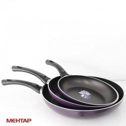 Set de 3 poêles téflon violet (20 + 24 + 28 cm ) - MEHTAP SETTV