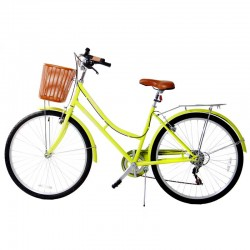 Bicyclette de ville 26 pouces 6V Vert moutarde - Rodeo 6026 C6V