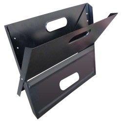 Barbecue portable pliable en acier à charbon ou bois
