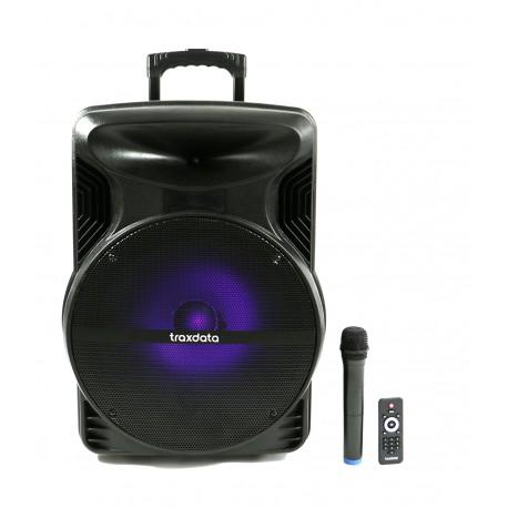 Haut parleur mobile avec Batterie ,Bluetooth et 01 micro sans fil - Traxdata TRX-030
