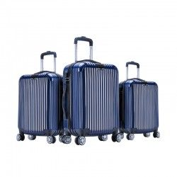 Lot de 3 Valises Bleu- ABS-PC